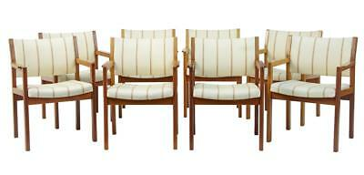 Set Of 8 20Th Century Soborg Modelfabrik Teak Armchairs