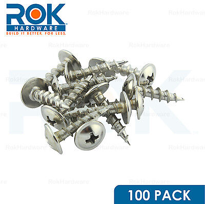 "100 Pack #8 x 3/4"" Coarse Deep Thread Modified Truss Head Type 17 Screw Nickel"