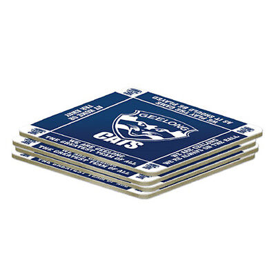 Geelong Cats AFL Set of 4 Cork Drinking Coasters