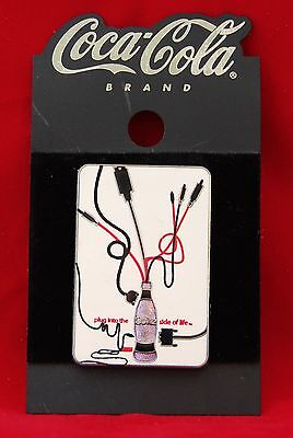 Vintage Coca-Cola Brand Plug Into The Coke Side Of Life Trading Pin Collectible