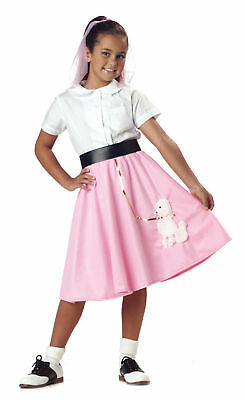 Child 50s Pink Poodle Skirt Grease Costume