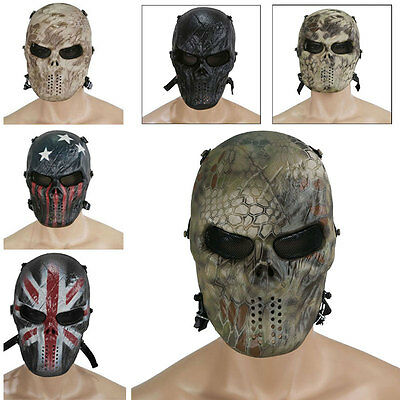 NEW Airsoft Paintball Full Face Protection Skull Mask Outdoor Game Tactical Gear