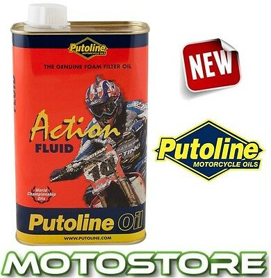 Putoline Action Fluid Motorcycle Foam Air Filter Oil 1 Litre