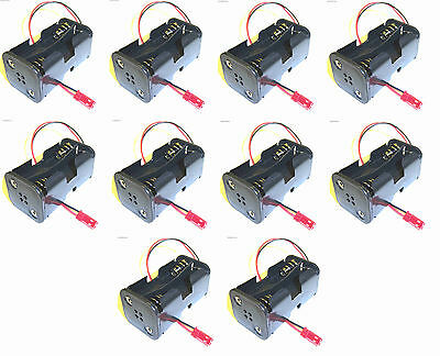 C1202-7 RC Battery Holder Case Box Pack 4 AA JST 2 Pin x 10