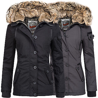 urban surface damen winterjacke winter parka daunen jacke mantel kapuze 44234a eur 49 90. Black Bedroom Furniture Sets. Home Design Ideas