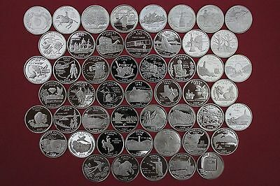 50 Silver State Quarters Set 1999 2000 2001 2002 2003 2004 2005 2006 2007 2008