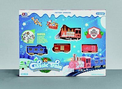 Christmas Train Set Battery Operated 21 Piece  ac151225