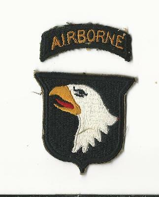 Us Army Patch - 101St Airborne Division - Seperate Tab - Original Wwii