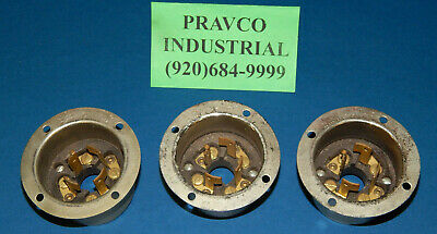 Lot of 3 Hubbell Flanged Inlet Twist Lock 20/10Amp 250/600Volt