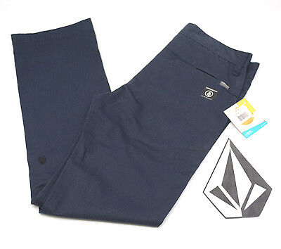 VOLCOM STONE BOYS YOUTH VMONTY PANT Modern Fit Chino Casual Blue NWT/NEW $45