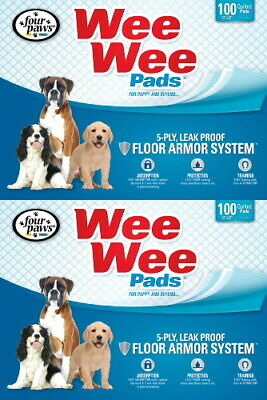 Four Paws 22x23 Wee Wee Pads 200pk (2 x 100ct box)