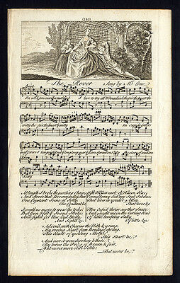 Rare Antique Print-THE ROVER-OLD ENGLISH SONG-Welcker-1760