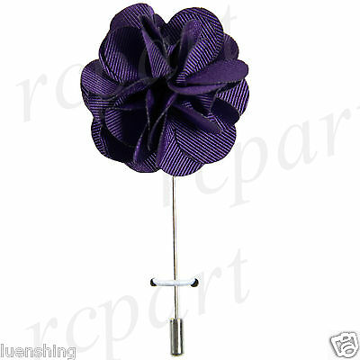 New in box Brand Q formal Men's Suit chest brooch solid purple lapel pin