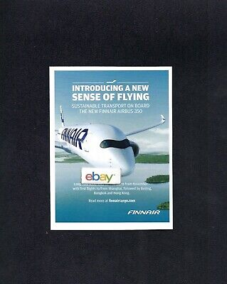 Finnair Finland Airbus A350 Introducing New Sense Of Flying Helsinki/shanghai Ad