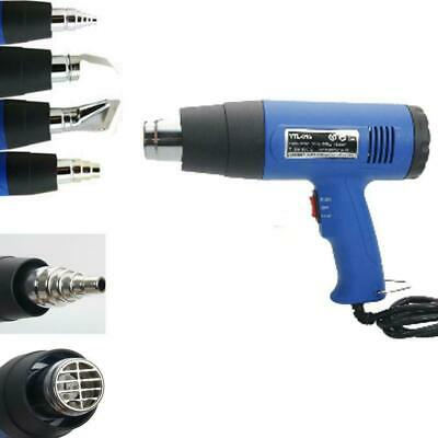 110V Dual Temperature Heat Gun with Accessories Shrink Wrapping 4 Nozzles New