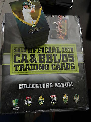 2015/16 Tap N Play Cricket Complete Set 180 Cards And Official Album Bbl