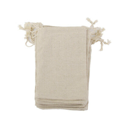 10 NATURAL LINEN BURLAP JUTE Drawstring Pouch Gift Bags Wedding Party Favor Sack