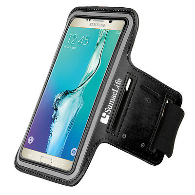 Black Sumaclife Running Sport GYM Armband for Samsung Galaxy S9 S8 / iPhone X/8