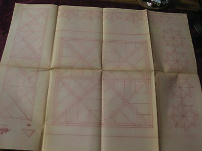 """Io-A299  Vtg Artex Hand  Embroidery Painting Transfer-Quilt Block Designs-""""H"""""""