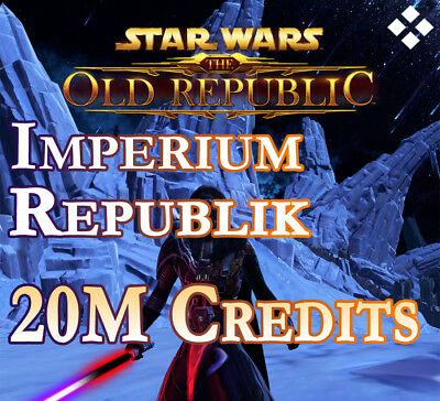 20 Millionen SWTOR Credits - Star Wars the old Republic 20000K 20M Alle EU Sever