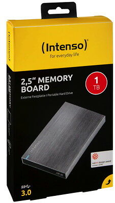 Intenso HDD externe Festplatte Memory Board 2,5 Zoll 1TB USB 3.0 anthrazit