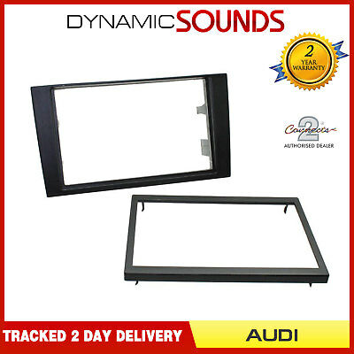 CT24AU21 Black Double Din Iso Fascia Adapter Frame for Audi A4 2001 To 2008