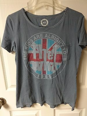 Vintage - The Who - 1989 Tour Band Graphic Printed T-Shirt Women L Distressed