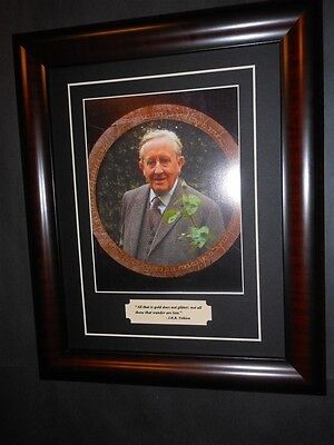 J. R. R. Tolkien Quote & Photo Framed Hobbit Lord of the Rings