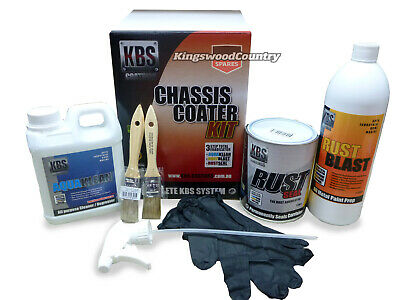 Chassis Coater Kit SATIN Black KBS Rust Corrosion Prevention Degreaser