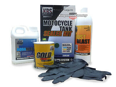 KBS Motorcycle Fuel Tank Sealer Kit LARGE 45L Prevent Rust Corrosion Motorbike