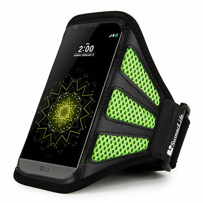 Green / Black Network Gym Armband Case for Samsung Galaxy S6 Active / S6 Duos