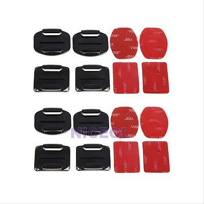 8 Pcs Flat Curved Adhesive Mount Helmet Accessories for Gopro Hero 5 4 3+ Camera