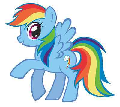 """Rainbow Dash My Little Pony Iron On Transfer 5""""x5.5"""" for LIGHT Colored Fabric"""