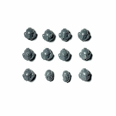 Space Marine Legion MKIV Tactical Squad HEADS x 12 Horus Heresy 30K