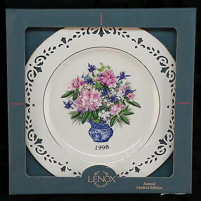 Lenox China 1998 RHODE ISLAND Colonial Bouquet Collector Plate 1st Quality MIB
