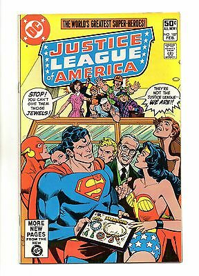 Justice League of America Vol 1 No 187 Feb 1981 (VFN+) Modern Age, Cents Copy
