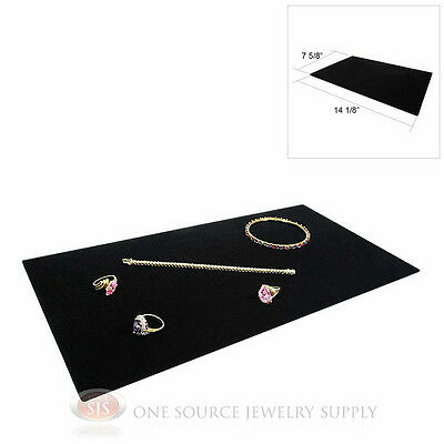 (1) Black Plush Soft Velvet Jewelry Display Counter Display Pad Padded