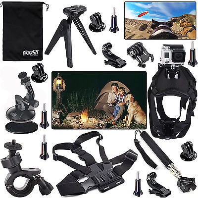 EEEKit for GoPro Hero 5 4 Black Silver Session LCD,Mount Holder Accessories Kit