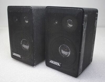 "Arista MS-501 20watt 8 OHM  4"" Air Suspension Speakers Stereo Radio"