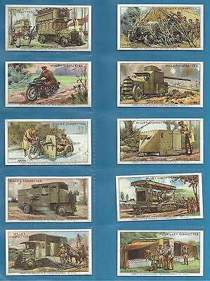 Wills cigarette cards - MILITARY MOTORS - Full mint condition set.