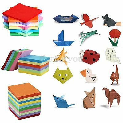 100/520 Sheets Origami Paper Double Sided Coloured Craft Square Assorted DIY HOT