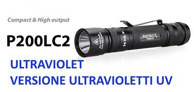 Torcia EagTac P200LC2 UV Ultravioletti 365 nm Torcia professionale