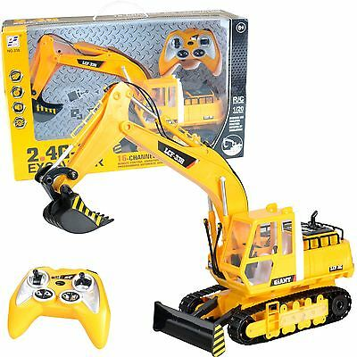 Radio Remote Control RC JCB Style Excavator Bulldozer Digger Truck Toy