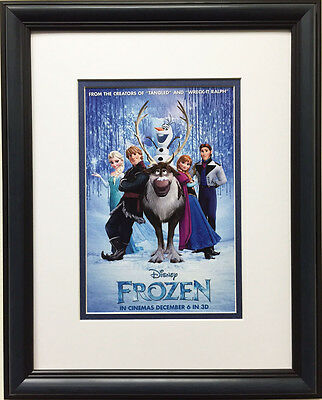 Walt Disney FROZEN Newly Custom Framed art print - Childrens room Elsa Anna Olaf