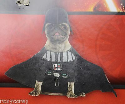 "Disney Star Wars Darth Vader Dog Costume Size Small 14"" Chest 11"" Neck to Tail"