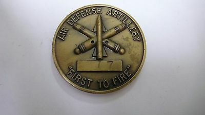 "2nd BATTALION 6th AIR DEFENSE ARTILLERY ""FIRST TO FIRE""  CHALLENGE COIN USED"