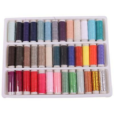 39pcs HOT Colorful Spool Sewing Thread For Hand Machine Embroidery Home Tools LG