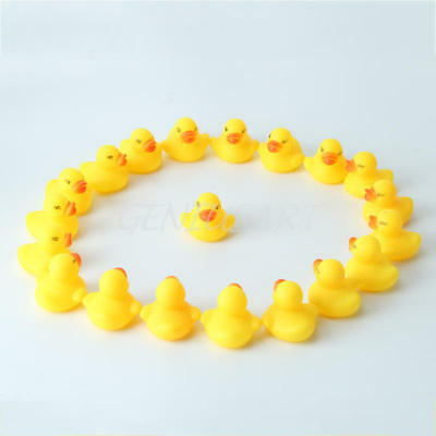 20pcs Mini Yellow Rubber Ducks Bathtime Squeaky Bath Toy Water Play Kids Toddler