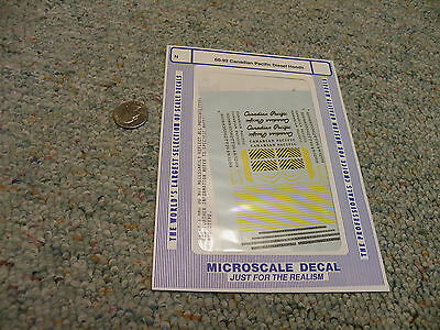 Microscale decals N 60-92 Canadian Pacific diesel hoods   E135