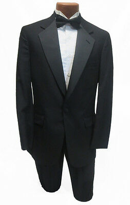 48XL New Mens Designer Black Brooks Brothers Tuxedo Coat & Pants Classic Wedding